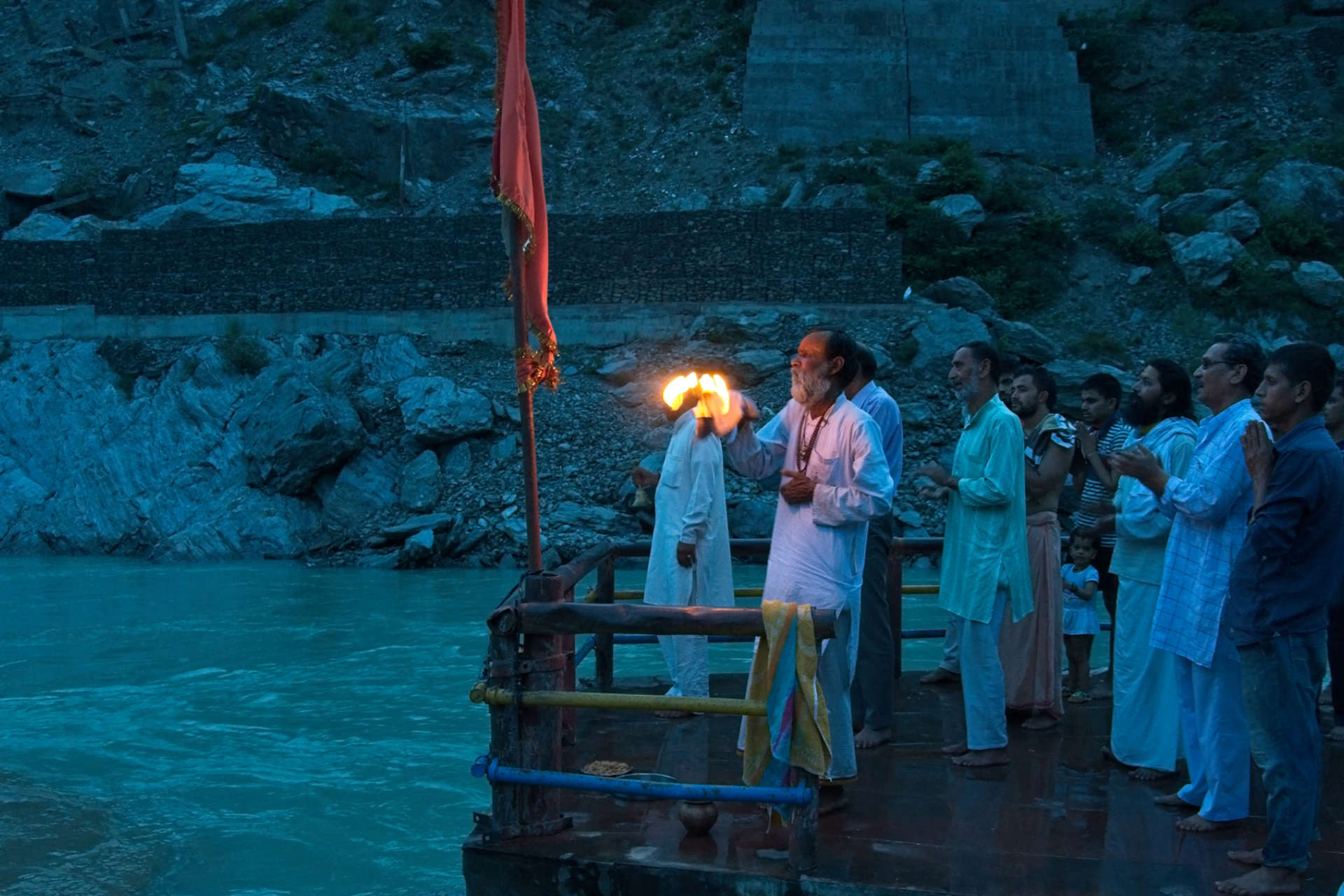 Ganges aarti at Devprayag